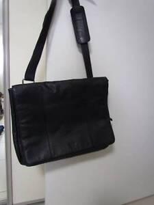 Black Leather Laptop Bag Golden Beach Caloundra Area Preview