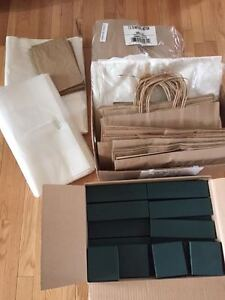 Craft Business Bags, Tissue Paper and Jewelry Boxes - New!