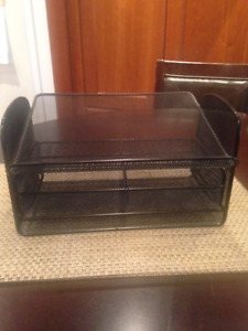 """Desk Organizer with drawer - measures 12""""x9""""x7"""""""