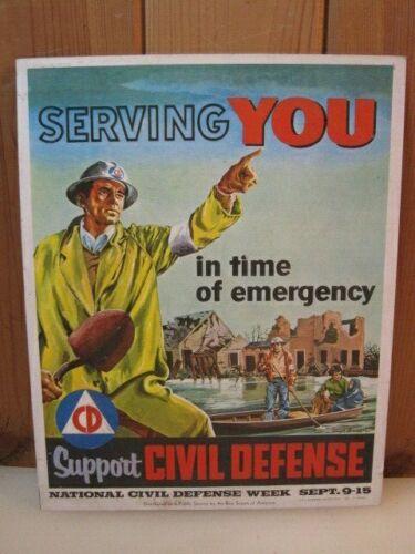 Original 1956 Civil Defense Boy Scout Poster B3543