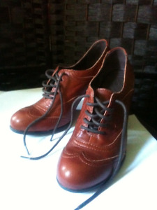 New leather shoes