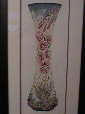 Rare Moorcroft Rachel Bishop Watercolour Rosebay Willowherb Design LTD 4/12 £427