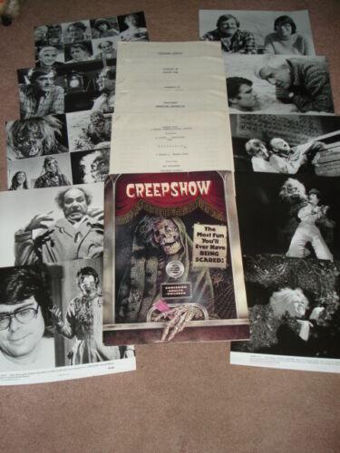 CREEPSHOW Original 1982 Press Kit w/B&W Stills Hal Holbrook & Adrienne Barbeau