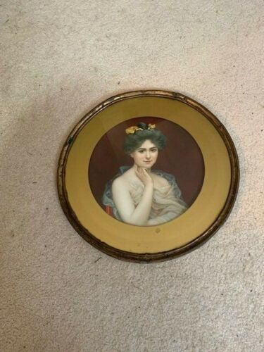Antique Print with Metal Frame & Glass