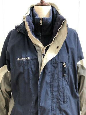 Columbia Vertex Bugaboo Fleece Interchange Winter Jacket Men's Blue/Grey Size Lg Bugaboo Gray Fleece