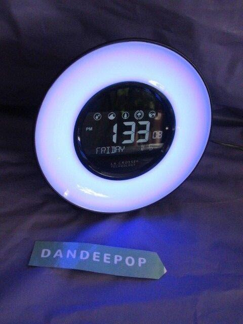 La Crosse Technology Mood Light & Sounds Digital Alarm Clock C85135