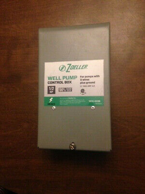 Zoeller 1010-2336 Well Pump Control Box For Pumps With 3 Wires Ground 12 Hp
