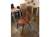 Lovely Leather look office/cafe chairs