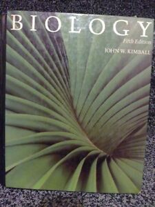 Biology fifth edition hardcover textbook by Kimball Hardcover