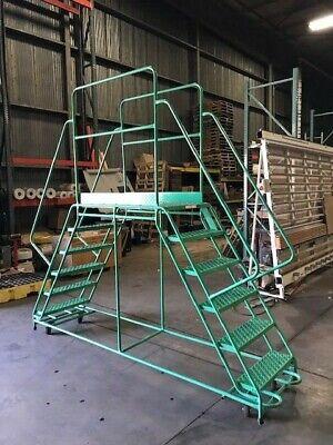 - Ladder Industries Work Platform, Mobile, Double-Sided, 6-Step 24