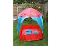 Children's Red and Blue garden tent/sun protector