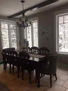 Thomasville Guildhall Forged Black 5-Light Chandelier For Sale