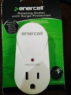Enercell Rotating 360 Mini Travel Surge Protector Suppressor Single Outlet Led