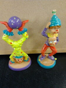 2 Poured resin clowns - Hand painted London Ontario image 1