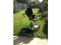 Stokke Xplory Dark Blue with Basinette and extras