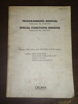 Okuma Cnc Lathes Osp5000l-g System Manual Ls-30-n Lh35-n Lh55-n Lc20-m Lc40-m