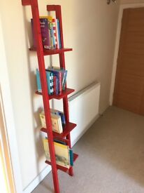 Shelving unit - ladder style - Rexbo from Ikea - red
