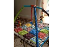 Infantino baby play mat/gym with patchwork pattern