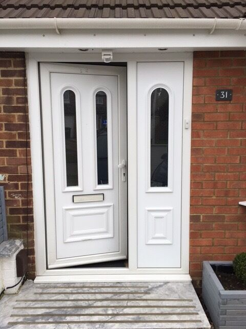 Astonishing Used Upvc Front Door And Side Panel Images Exterior