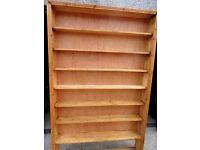 Old pine shelving, DVD / CD shelf. Book Shelf.