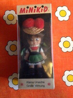 Rarität Schildkröt Minikid Schwarzwald Mädchen OVP Vintage 60er Jahre Puppe
