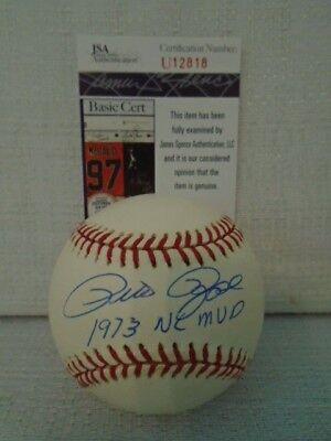 Pete Rose Signed Cincinnati Reds 1973 NL MVP Leonard Coleman Baseball JSA U12818