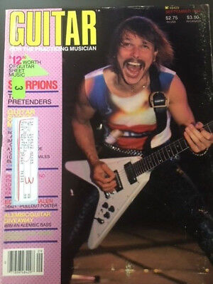 GUITAR FOR THE PRACTICING MUSICIAN. September 1984. Featuring The Scorpions.