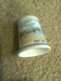PORT ERIN (isle of man) collectable thimble