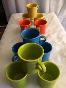 8 New Fiesta Coffee Mugs