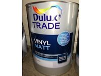 5 Litre Dulux Vinyl Matt White Paint. Brand New