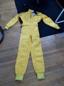 Yellow Go Kart Racing Suit Size Small