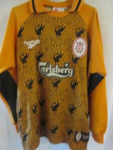 Liverpool-1996-97-Goalkeeper-Away-Football-Shirt-Size-Youths-Shorts-28-1727