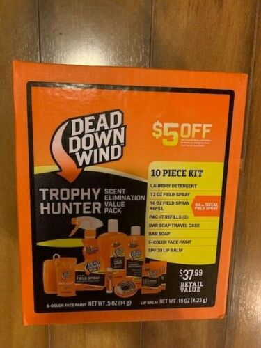 10pc Hunter Scent Elimination Field Kit Cover Odor Eliminator Hunting Kit
