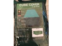 Outdoor Furniture 6 Seater Cube Cover in Green