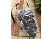 Zia Petit Star Pushchair/Stroller With Foot muff and Rain cover - used