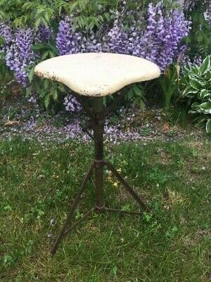 Vintage 1920's Walberg & Auge Wood Painted Drum Throne