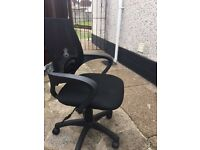 Black office swivel mesh back chair cost £59 new 2 mths old