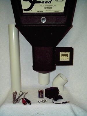 Quick Feed Automatic Single Horse Feeder W/Battery Adapter - QFSBA