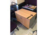 Desk height cupboard