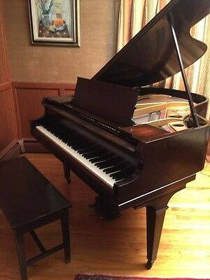 ANTIQUE 1914 MARSHALL & WENDELL BABY GRAND PIANO SN: 49101