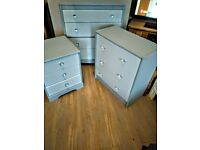 BEDROOM FURNITURE IN GREY WITH A SPARKLE SOLD INDIVIDUALLY
