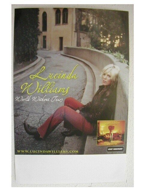 Lucinda Williams Promo Poster World Without Tears