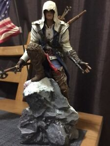 Assassin creed statue that comes with Flag
