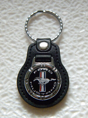 FORD MUSTANG KEY FOB CHAIN RING PONY RACING MUSCLE CAR SPORT COUPE FASTBACK V8