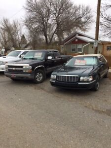 1997 Cadillac & 1999 Chevy for sale as a pair