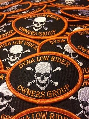 Harley Davidson Dyna Low Rider Owners Group 3  X 2  Patch   Free Ship Worldwide