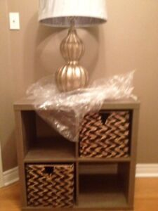 Brand new bookcase $85 inc baskets worth $38.99