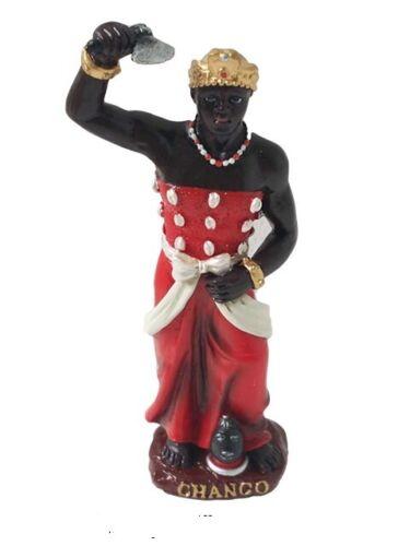 "5"" Orisha Chango Statue Santeria Yoruba Lucumi 7 African Powers Shango"