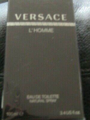 VERSACE L'Homme Eau De Toilette Men's Cologne Spray 3.4 fl oz  FREE S/H