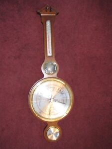 Howard Miller 612-721 Olympia Wall Weather Station Temp Barometer Hygrometer EXC